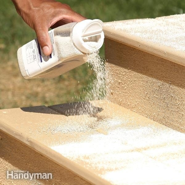 How To Make Wood Steps Safer   Exterior Wood Stair Treads   Anti Slip   90 Degree   Step   Solid Stringer   Deck