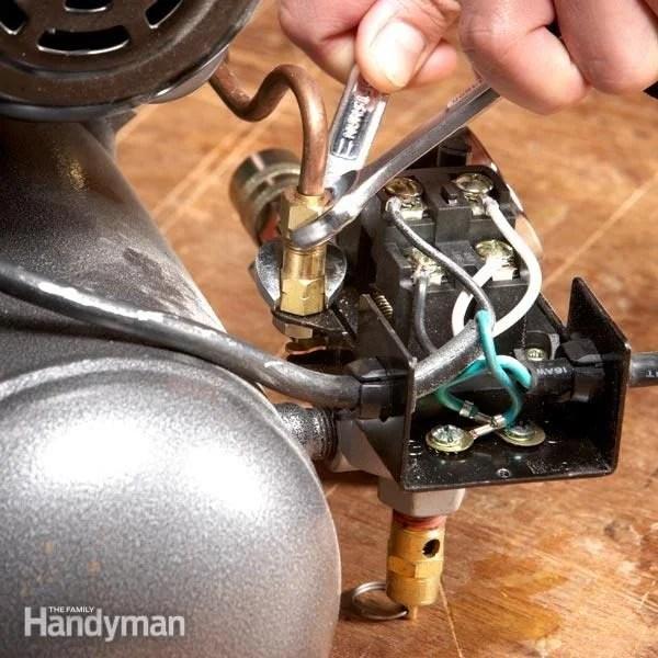 Garage Door Wiring Schematic How To Fix An Air Compressor The Family Handyman