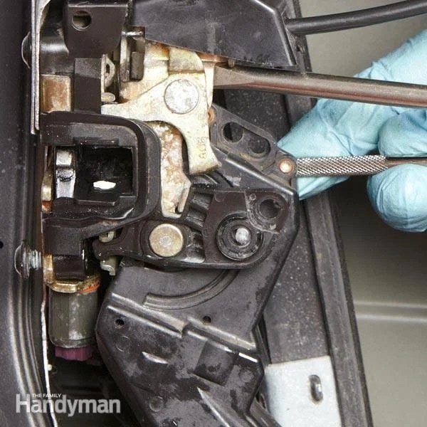 wiring diagram of ceiling fan 2004 ford focus car door lock replacement: how to replace locks on your | the family handyman
