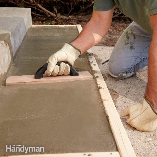 Repair Or Replace Pouring Concrete Steps Family Handyman | Attaching Wood To Concrete Steps | Composite Decking | Handrail | Staircase | Screws | Deck Stairs