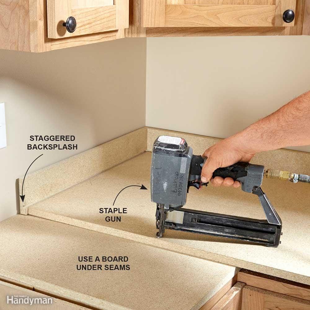 Install A Laminate Kitchen Countertop Family Handyman