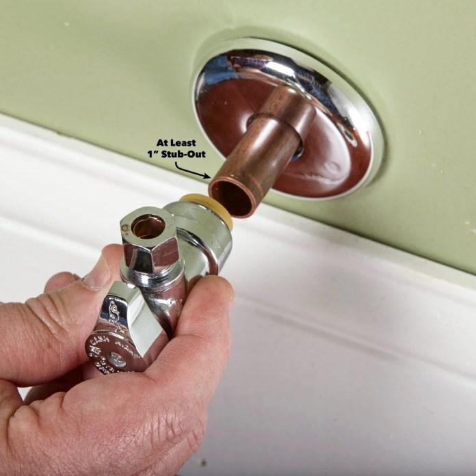 how to replace a shutoff valve diy