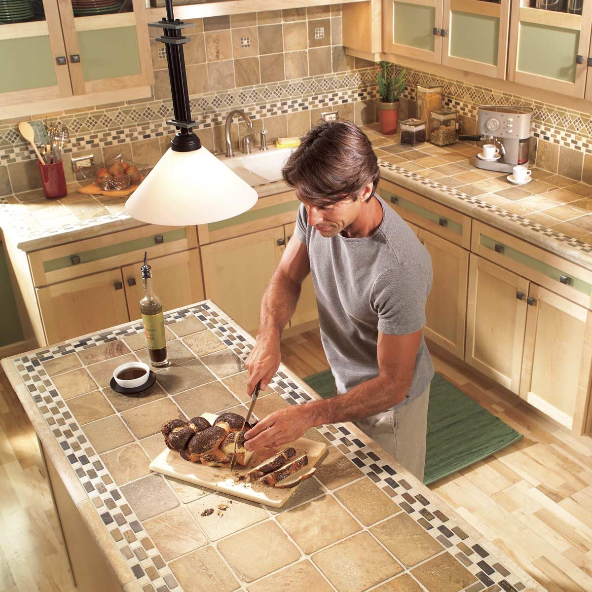 Installing Tile Countertops Ceramic Tile Kitchen