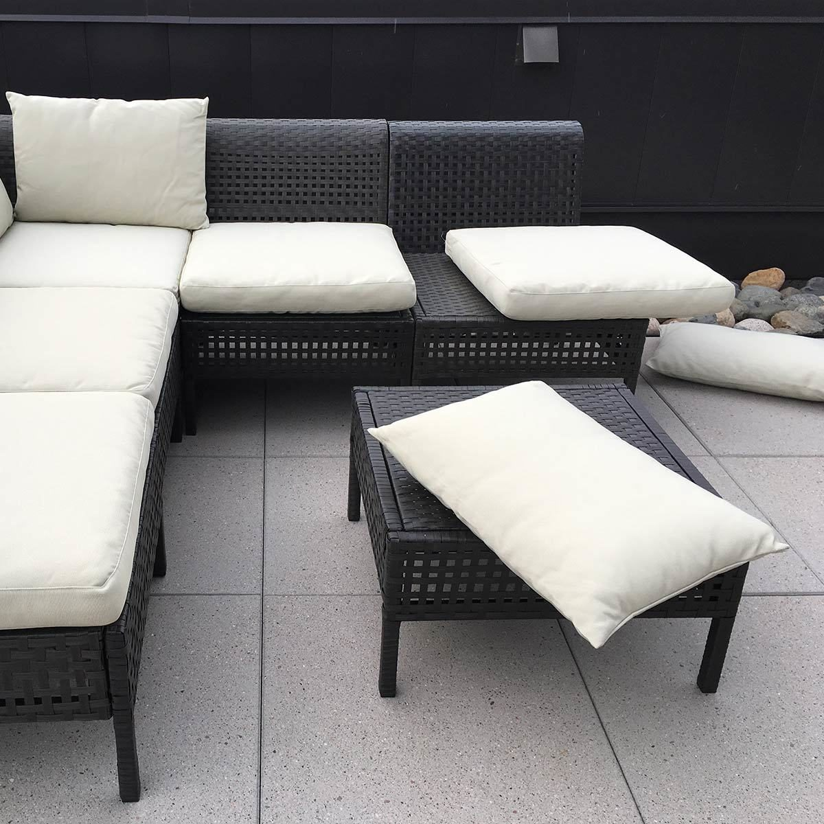 chair cushions with ties ikea french country dining chairs arms hacks add to outdoor furniture the