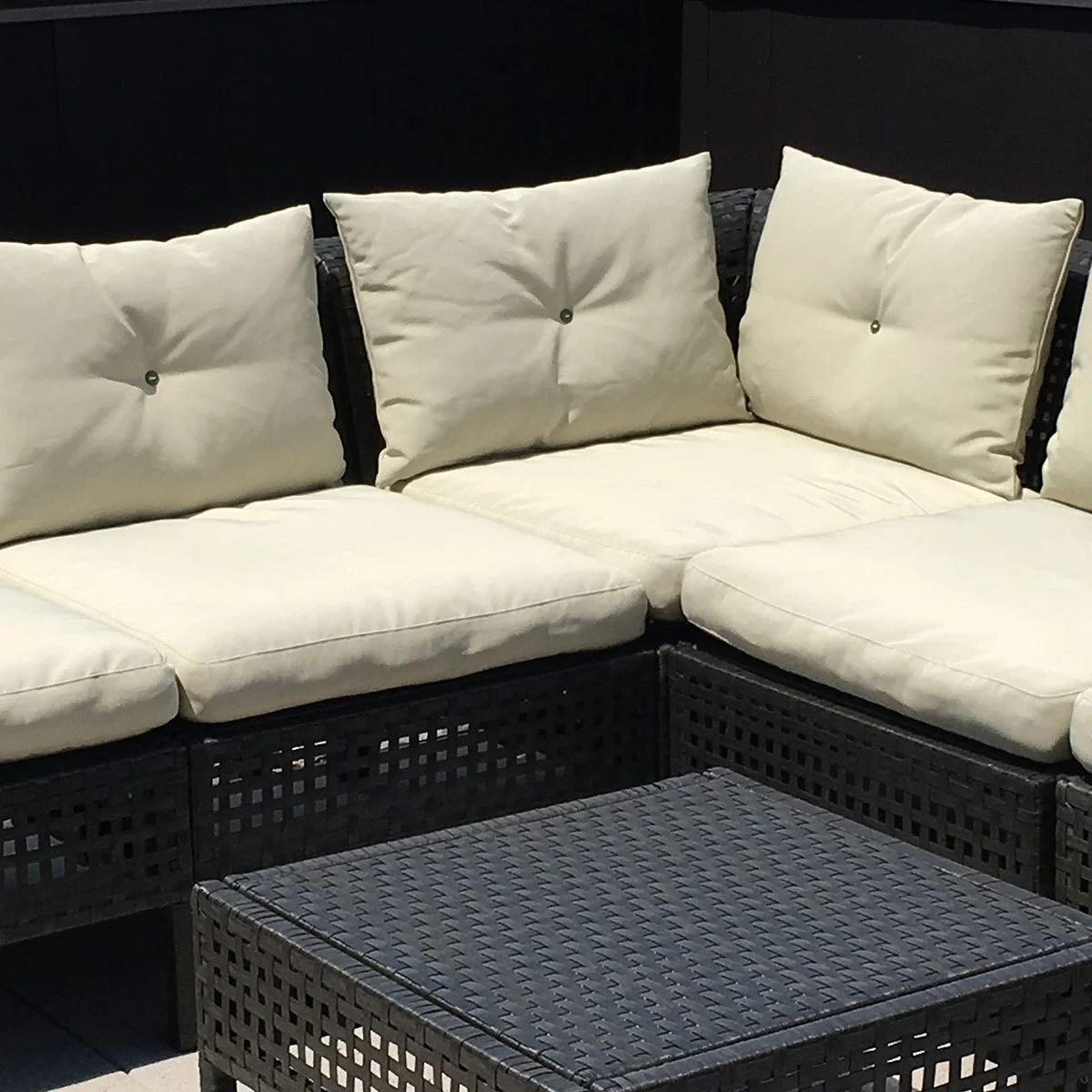 ikea chair cushions kneeling posture benefits hacks add ties to outdoor furniture the