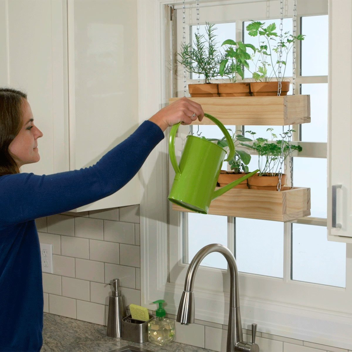 exhaust fan for kitchen ceiling install island how to build a hanging herb garden — the family handyman