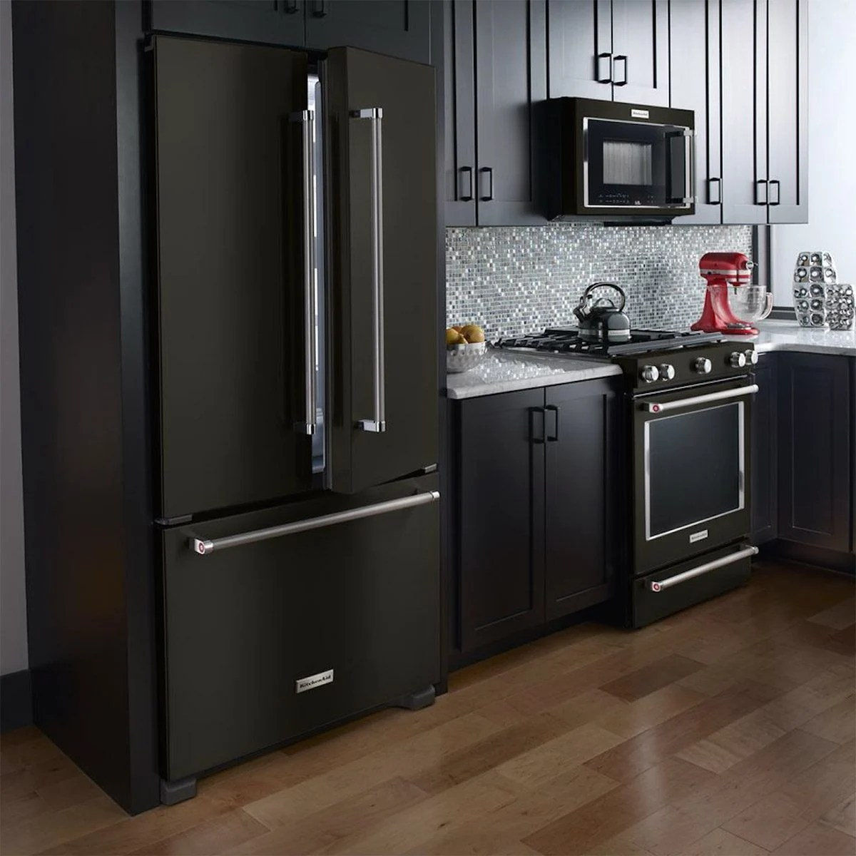 kitchen aid appliances island design home trend black stainless steel  the family