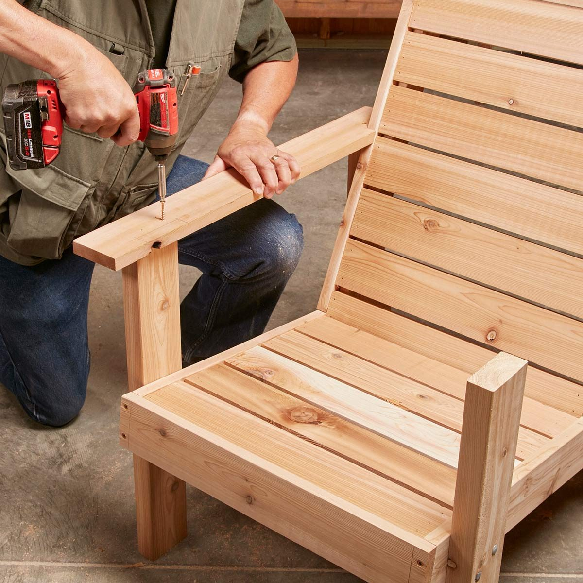 diy patio chairs cheap leather chair perfect you can make the family handyman step 9