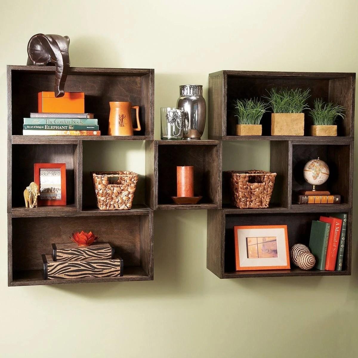 diy shelves in living room settee benches box the family handyman modular