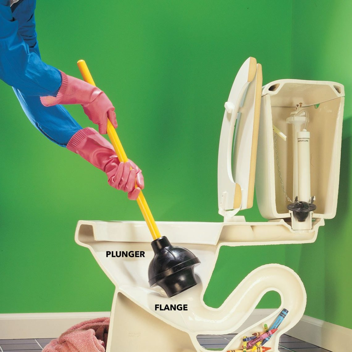 Image Result For How To Use A Plumbing Snake To Unclog A Toilet