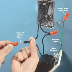 Two Gang Light Switch Wiring Diagram 40 Hp Johnson Outboard Parts How To Install A Dimmer The Family Handyman Connect Wires