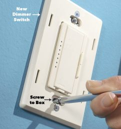 attach cover plate for the wall dimmer switch [ 1200 x 1200 Pixel ]