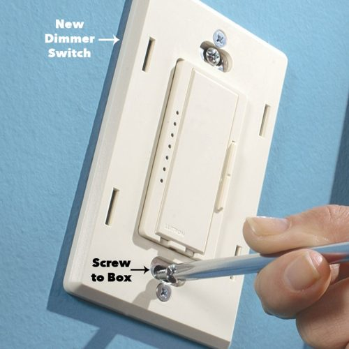small resolution of attach cover plate for the wall dimmer switch