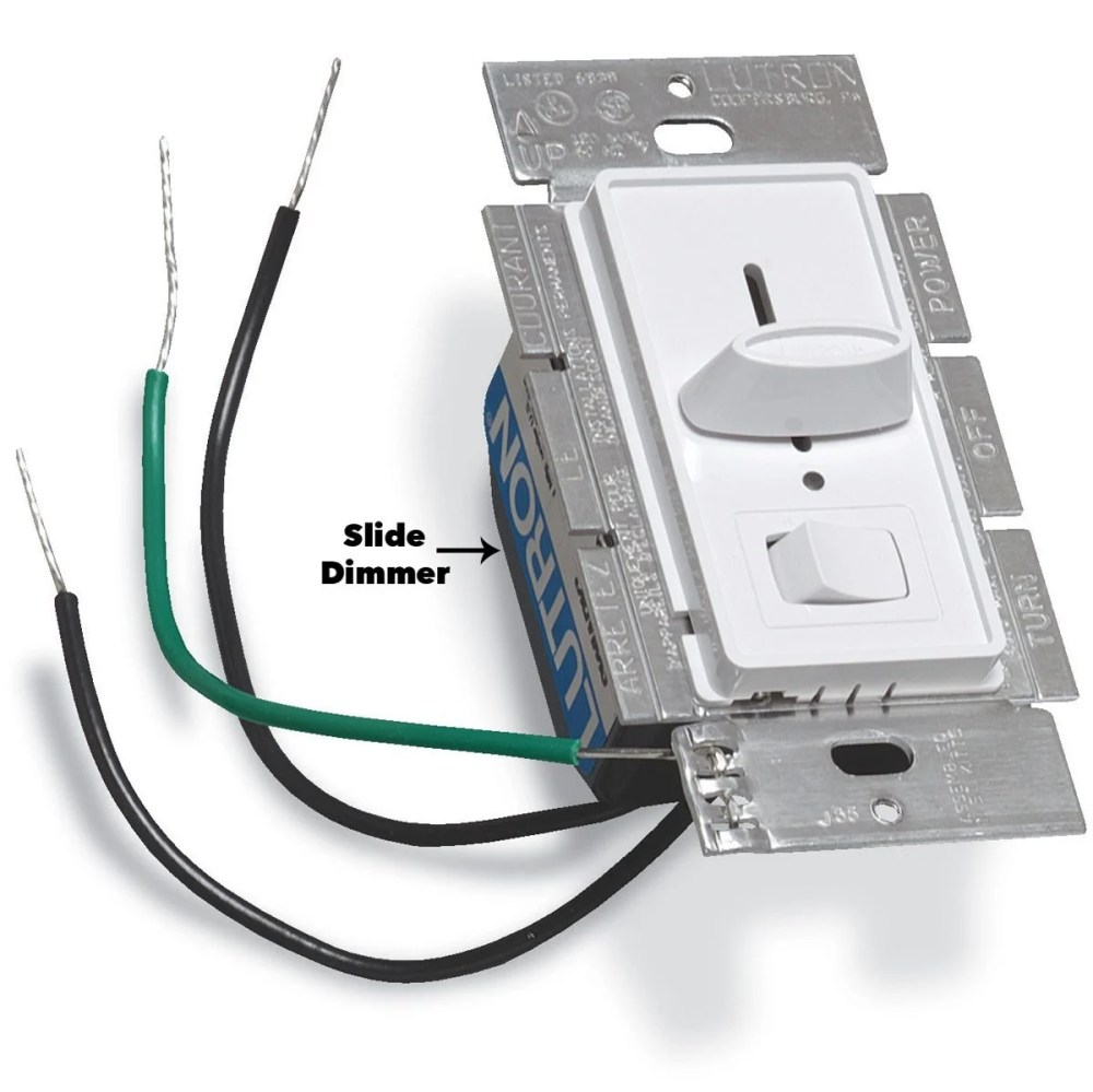 medium resolution of slide dimmer light switch