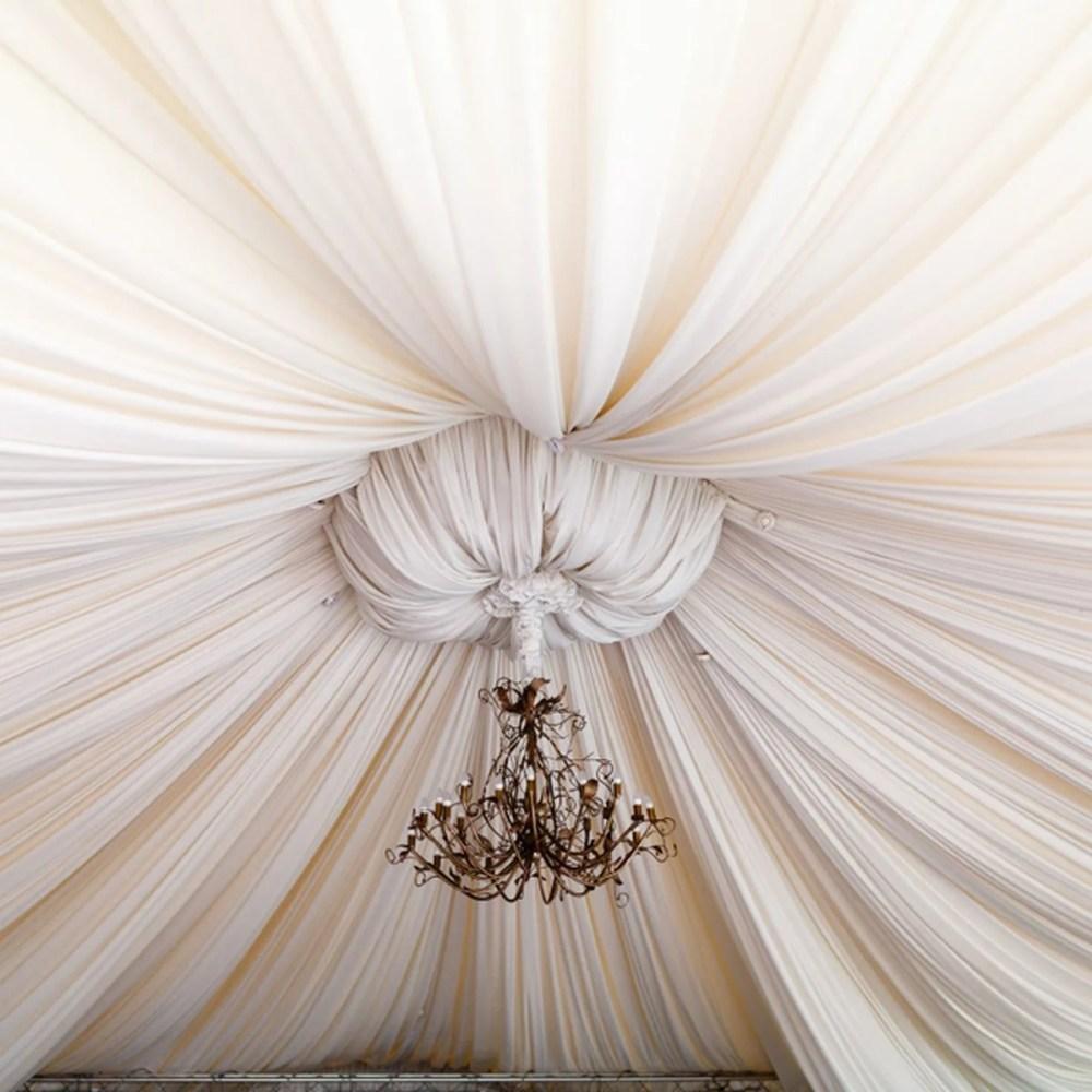 medium resolution of fabric ceiling gather