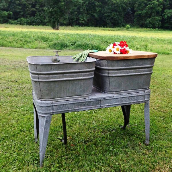 DIY Outdoor Garden Sink