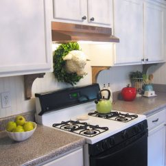 Kitchen Hood Fans Light Oak Cabinets Creative Ways To Disguise A Range Vent The Family Handyman Gold Spray Paint