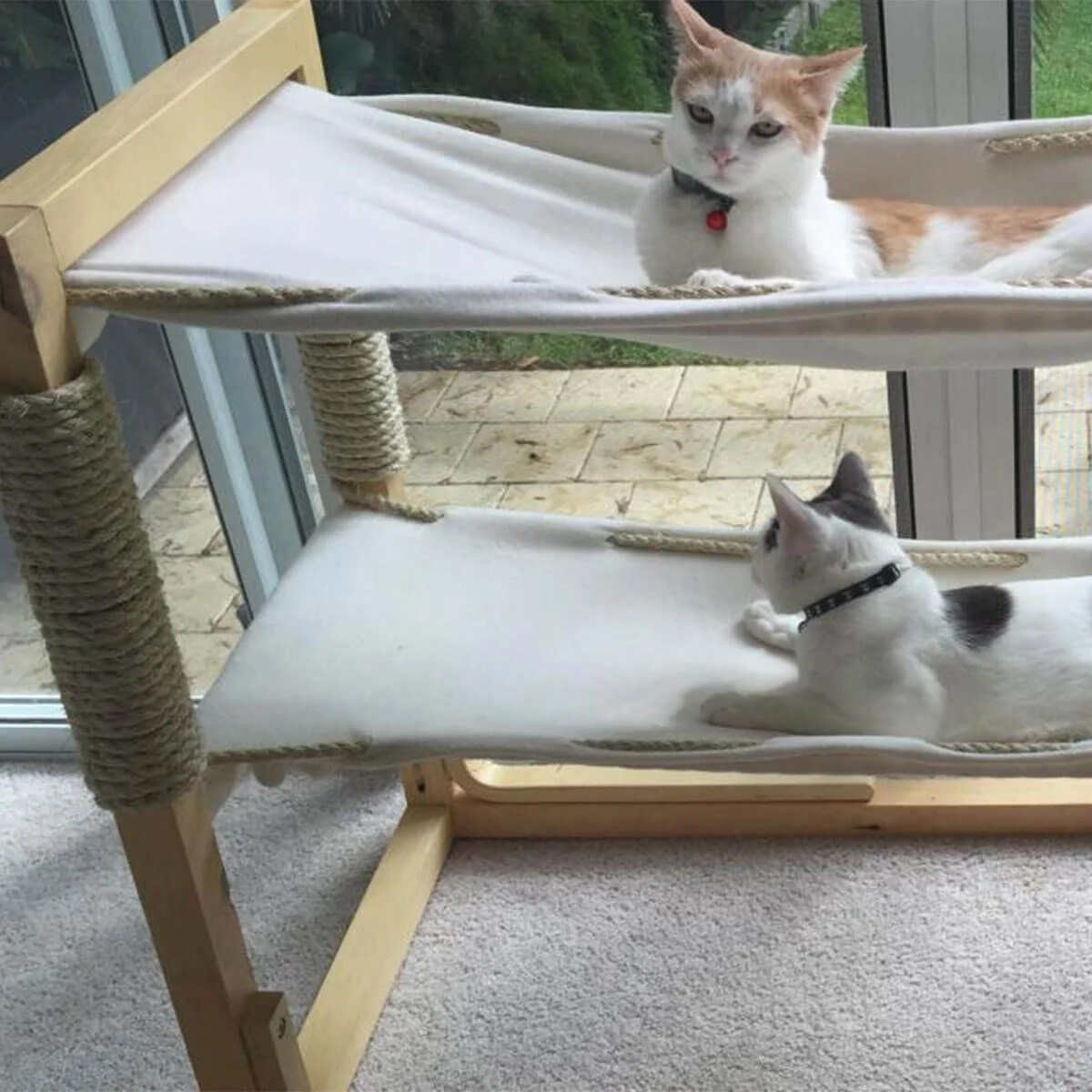 cat hammock under chair henry miller diy scratching post with bed design ideas
