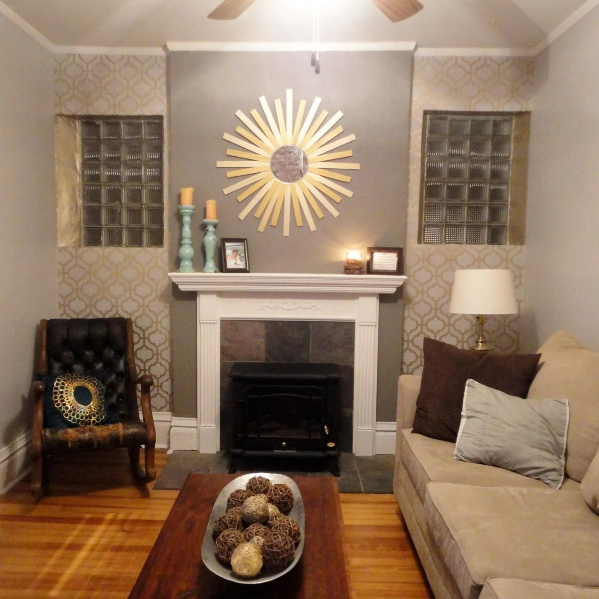 wall painting living room small end tables for canada 14 ways to embellish your home with metallic paint the family handyman on accent