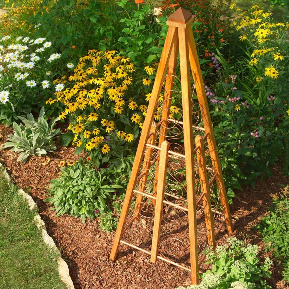 medium resolution of copper wire garden trellis