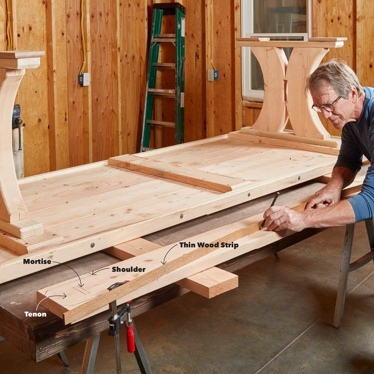 Mortise And Tenon Table Top