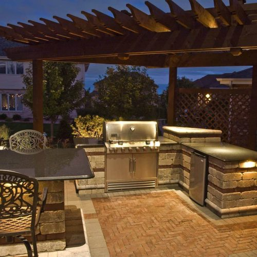 small resolution of 12 ideas for lighting up your deck the family handyman light bulb wiring backyard kitchen pergola