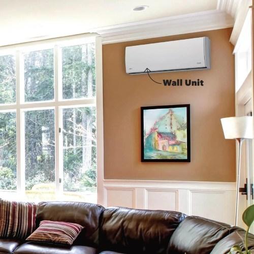 small resolution of mini split living room wall unit