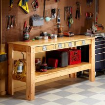 Simple Garage Workbench Plans