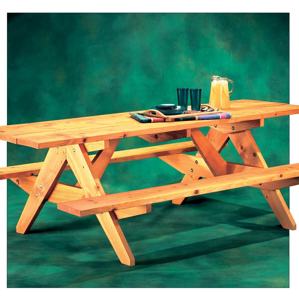 How To Build A Round Picnic Table With Attached Benches