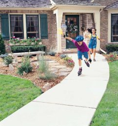 concrete sidewalk kids roller blading playing outside concrete walkway cost cost of sidewalk [ 1200 x 1200 Pixel ]