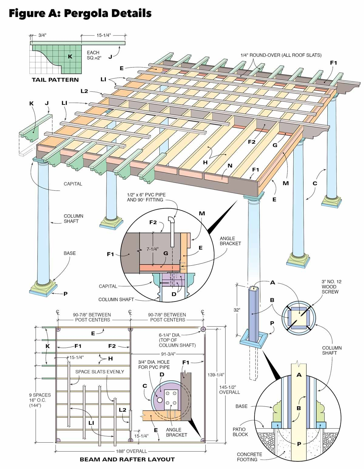 hight resolution of figure a pergola design details