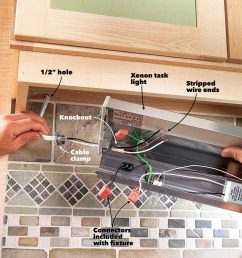 how to install under cabinet lighting in your kitchen wiring under kitchen cabinet lights secure under [ 1200 x 1200 Pixel ]