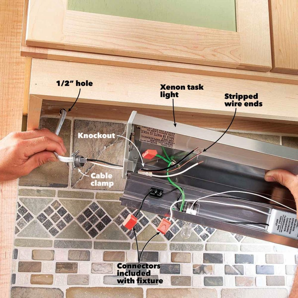 medium resolution of how to install under cabinet lighting in your kitchen wiring under kitchen cabinet lights secure under