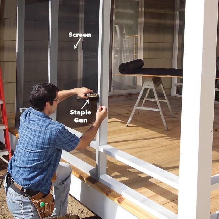 https www familyhandyman com project screen porch construction