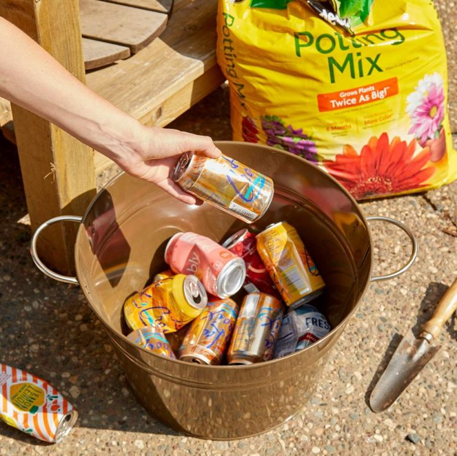 HH Handy Hints Pop cans save soil gardening