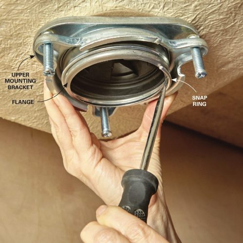 small resolution of the snap ring fits into a groove on the lower end of the sink flange when you re working under the sink it prevents the upper mounting bracket from