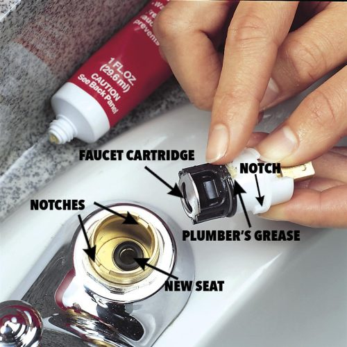 small resolution of drop the new spring into the recess and push the new seat in with your finger spread a thin layer of plumber s grease around the cartridge