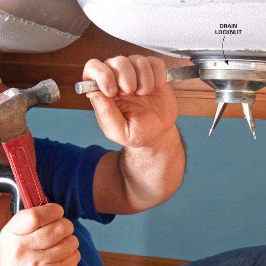 how to replace a kitchen sink basket