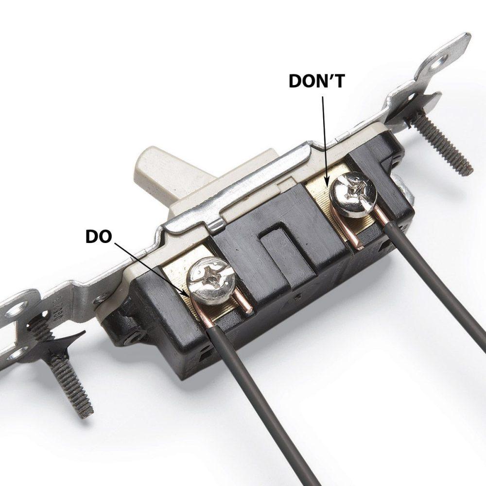 medium resolution of wrap wires clockwise around terminal screws