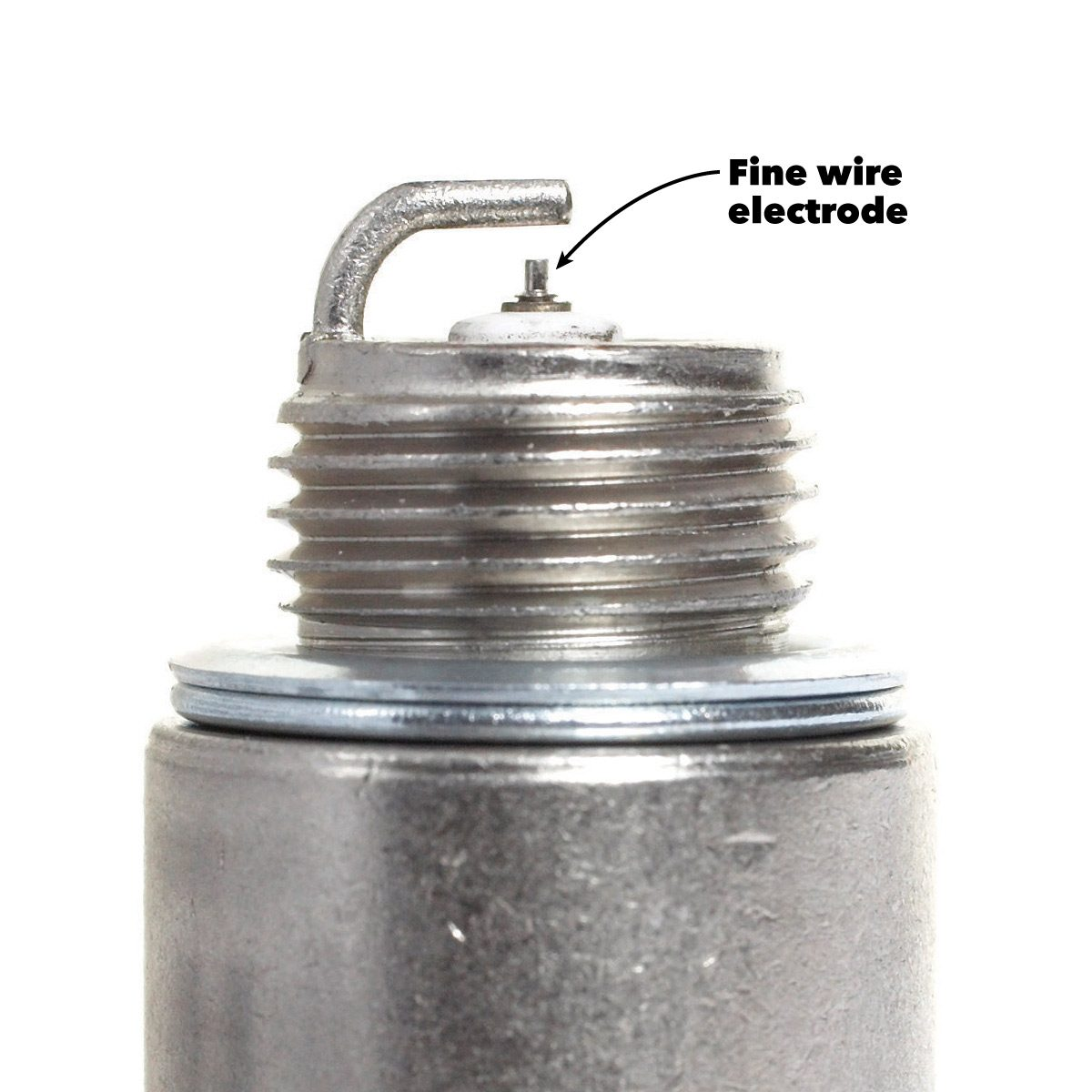 hight resolution of when you change the spark plugs don t be shocked to see the center electrode worn down to the size of a pin if your car was equipped with fine wire