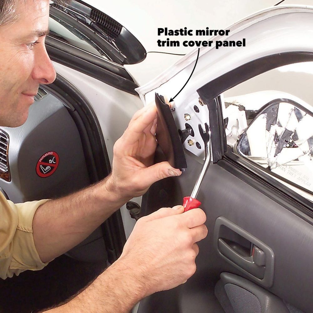 medium resolution of remove the side view mirror trim panel