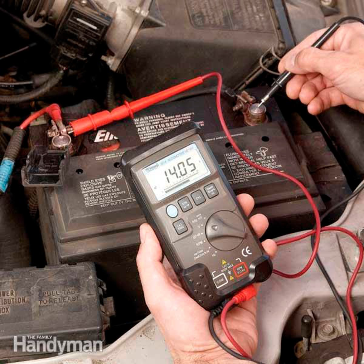 66 mustang alternator wiring diagram club car ds how to test an with one tool the family handyman a voltmeter