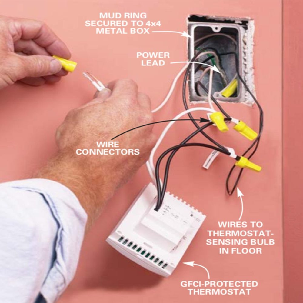 medium resolution of finish the wiring family handyman wire the thermostat