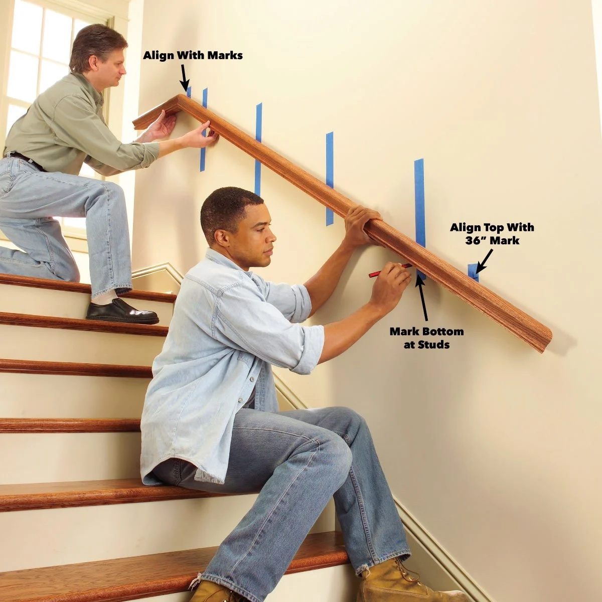 Install A New Stair Handrail   Wall Mounted Handrail For Stairs   Stair Interior   Brushed Nickel   Thin Glass   Attached Wall   Mounting