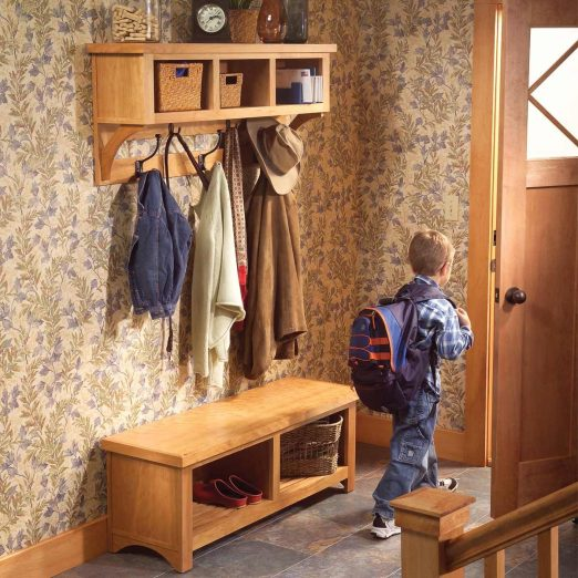how to build an entryway coat rack and