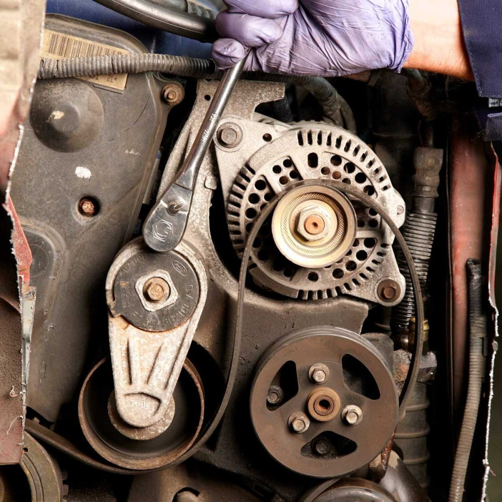 medium resolution of check for smooth rotation with a serpentine belt tool