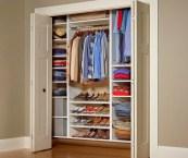 built in closet organizer