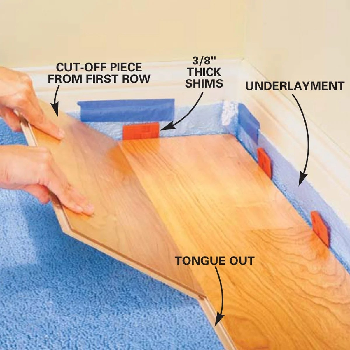Guide To Installing Laminate Flooring Diy Family Handyman