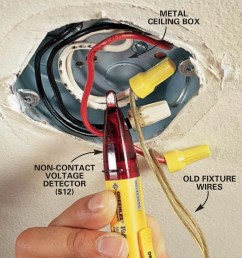 how to hang a ceiling light fixture family handyman ceiling junction box wiring ceiling box wiring [ 1200 x 1200 Pixel ]