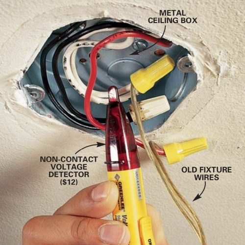 small resolution of how to hang a ceiling light fixture family handyman ceiling junction box wiring ceiling box wiring